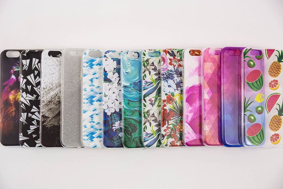 Colorful Cellphone Cases Photo, iPhone, Technology, Accessories, HD wallpaper